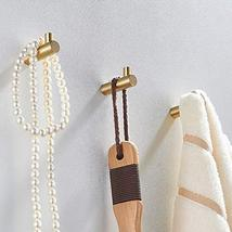Pack of 4, Gold Brass Decorative Wall Hooks Towel Hook, Coat Hook Hangers Wall M image 4