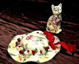 Ceramic Hat and Kitten Set AA18-1250 Vintage CANADA image 3