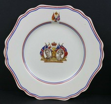 1937 Coronation King George VI & Queen Elizabeth Long May they Reign Plate  - $28.02