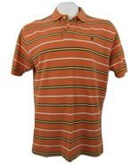 Polo Ralph Lauren Striped Orange Pony Polo Shirt Men's XL 100% Cotton - $21.77