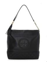Tory Burch Fleming Leather Hobo - Black - $398.00