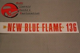 55 Chevy New Blue Flame 136 Valve Cover Decal Auto Transmission 6-cylinder - $8.68