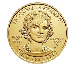 2015 US Mint Jacqueline Kennedy 1/2 oz $10 Dollar .9999 Solid Gold Coin Unc.