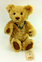 Steiff Teddy Bear Mohair Brown Jointed Plush 2001 Stuffed Animal 666360 ... - $67.72