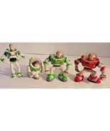 Disney Pixar Toy Story Buzz Lightyear Cake Toppers Action Figures Set of 4 - $15.79