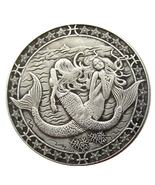 Hobo Nickel 2 Sexy Mermaids in the Ocean Sea Morgan Dollar American Nick... - $9.49