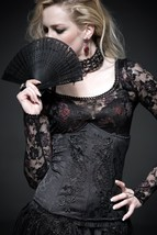 NEW Punk Rave Gothic Corset Under bust Black Top Y-524 FAST POSTAGE - $37.07