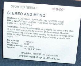 STEREO TURNTABLE NEEDLE STYLUS for Kenwood N65 MGA MODELS LT55 LT76 119-D7 image 3