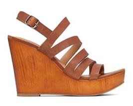 Women's Shoes  Lucky Brand LARINAA Platform Wedge Sandals Heels Leather ... - $54.99