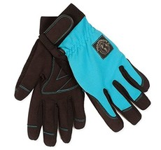 Womanswork Stretch Gardening Glove with Micro Suede Palm, Teal Blue, Medium - $18.66