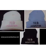 Houston City Area Code 713 BEANIE Hat Various Colors Adult Sz NEW Free S... - $7.99