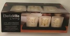 Bella Villa Candle Holder Set 4-Pc Decorative Candle Garden Family Love Friends image 2