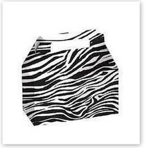 ZEBRA White Black Party Supplies BOXES Birthday Decoration GABLE x12 BAG... - $12.82