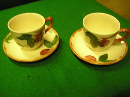 -Magnicent Set of 2  FRANCISCAN Cups and Saucers-Apple Pattern - $12.19