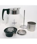 Corning Ware Black Trefoil 6 Cup Stove Top Percolator Coffee Pot Rare Vi... - $139.99