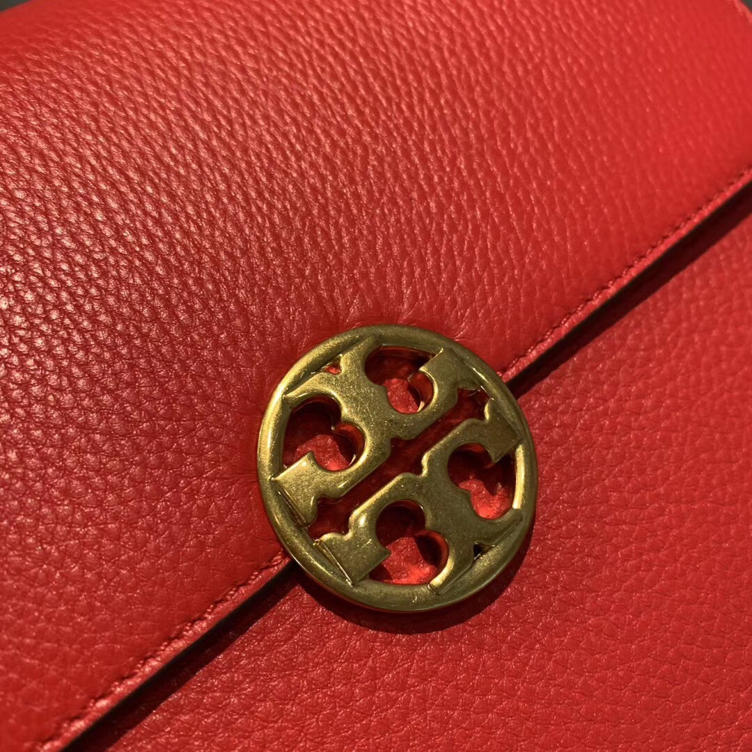 TORY BURCH Chelsea Convertible Shoulder Bag Red Authentic