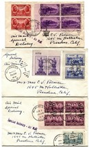 3 Special Delivery Air Mail 16c Postage Cover Collection Stamps Used 193... - $41.40