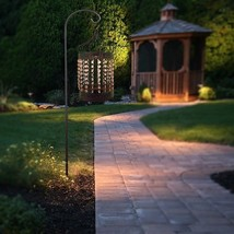 "17.5""H Outdoor Solar Lantern Jeweled Pathway Light Garden Decor Antiqued... - €84,89 EUR"