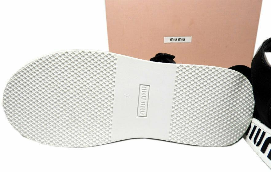 Miu Miu - Prada Run Sport Flat Sandals 39 Shoes Ankle Strap Shoes