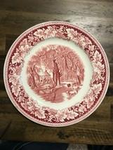 "Currier & Ives Prints Dinner Plate Homer Laughlin ""Home Sweet Home"" 9-7/8"" - $12.16"