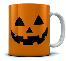 JACK O' LANTERN Pumpkin Face Halloween Coffee Mug White 15 Oz. - £15.56 GBP