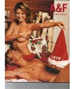 ABERCROMBIE & FITCH A&F QUARTERLY 2002 Christmas HEIDI KLUM SHIRTLESS - $40.00