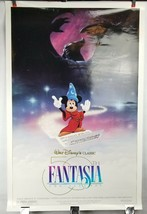 "Fantasia 50th Anniversary Double Sided Movie Poster 41""x27"" Original Rolled Ship image 1"