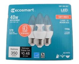 6 Bulbs EcoSmart 40W Equivalent Soft White B11 Candelabra LED Light Bulb - $29.94