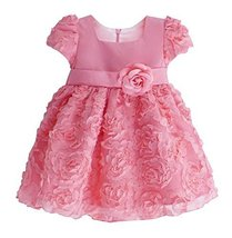 Beautiful Children Dress Lovely Girl Party Dress Princess Style Fushcia