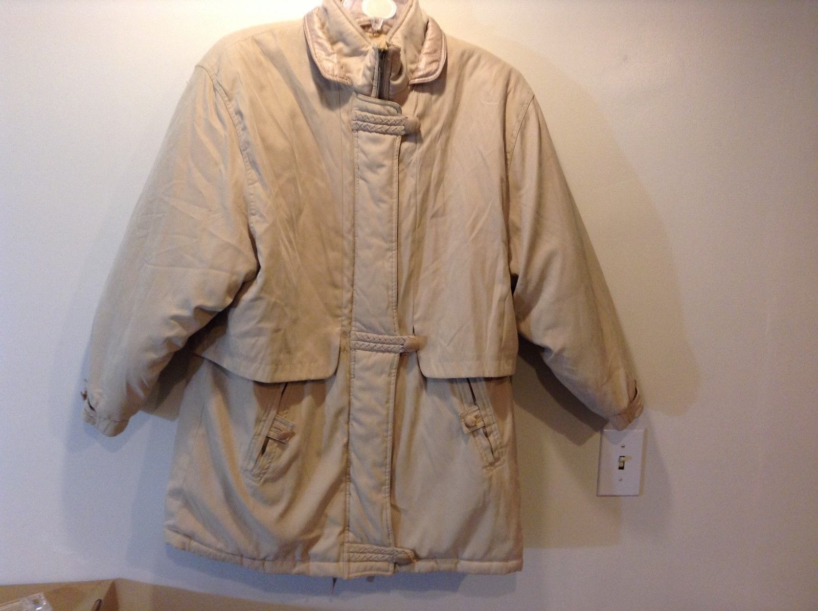 Fashion Bug Beige Rain/Snow Coat Sz 14-16W