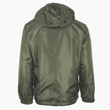 Men's Water Resistant Polar Fleece Lined Hooded Windbreaker Rain Jacket image 11