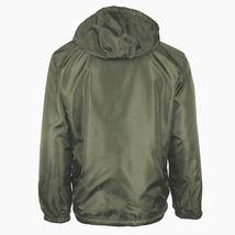 Men's Water Resistant Polar Fleece Lined Hooded Windbreaker Rain Jacket image 11