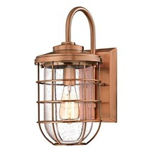 Westinghouse 6347900 Ferry One-Light Outdoor Wall Fixture, Washed Copper Finish  - $90.23