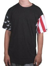 Crooks & Castles Vintage Flag Black 100% Cotton Short Sleeve Cut Sew T-Shirt NWT