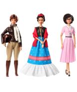 Barbie Inspiring Women Series  Frida Kahlo, Katherine Johnson & Amelia E... - $232.79