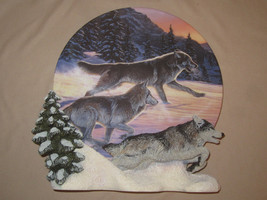 WOLF collector plate FREE AS THE WIND  Al Agnew HAMILTON 3-D - $19.99