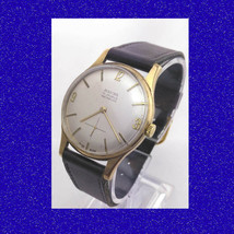 Mint Retro Vintage 9k Gold Baume & Mercier 17 Jewel Retro Gents Watch 1968 - $633.40
