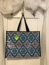 New Vera Bradley Re-Usable Market Tote Bag Blue Marrakesh Medallion Patt... - £9.17 GBP