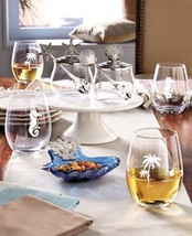 Seaside Tabletop Collection Stemless Wine Glasses Condiment Set Ocean Be... - $16.82+
