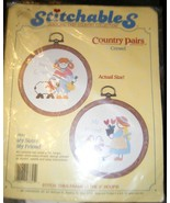 Stitchables country pairs my sister my friend cross stitch kit 7641 new ... - $9.89
