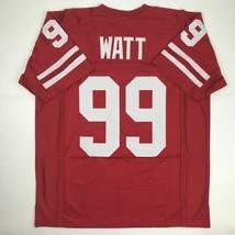 New JJ J.J. WATT Wisconsin Red College Custom Stitched Football Jersey Men's XL - $49.99