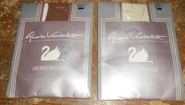2-lot gloria vanderbilt day sheer E size off white+suntan colors pantyho... - $15.83