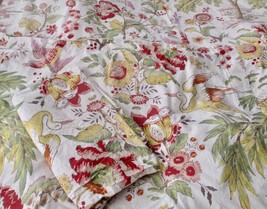 Pottery Barn Yellow Red Green Duvet Cover Birds Flowers Full / Queen & 2... - $128.69