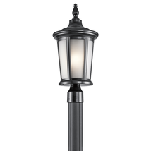 Kichler 49657BK Turlee Outdoor Post Light 10in Black Tones ALUMINUM 1-light - $212.40