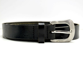 Next Womens Belt Leather Black Size 32 - $16.04