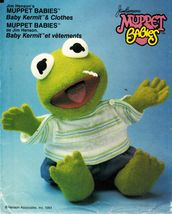 "Jim Henson's 15"" Stuffed Muppet Baby Kermit the Frog & Clothes Sew Pattern - $12.99"