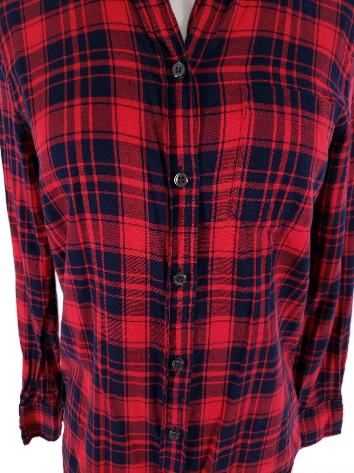 J.Crew Women Top XXS Flannel Shirt Boy Fit Soft Button Front Loose Fit image 2