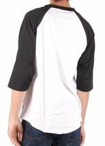 Asphalt Yacht Club Men's Black & White Sky High Tie Dye Green A Raglan Shirt NWT image 2