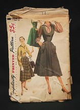 Old Vintage 1954 Simplicity Sewing Pattern 4838 Misses' & Women' Jumper ... - $6.92