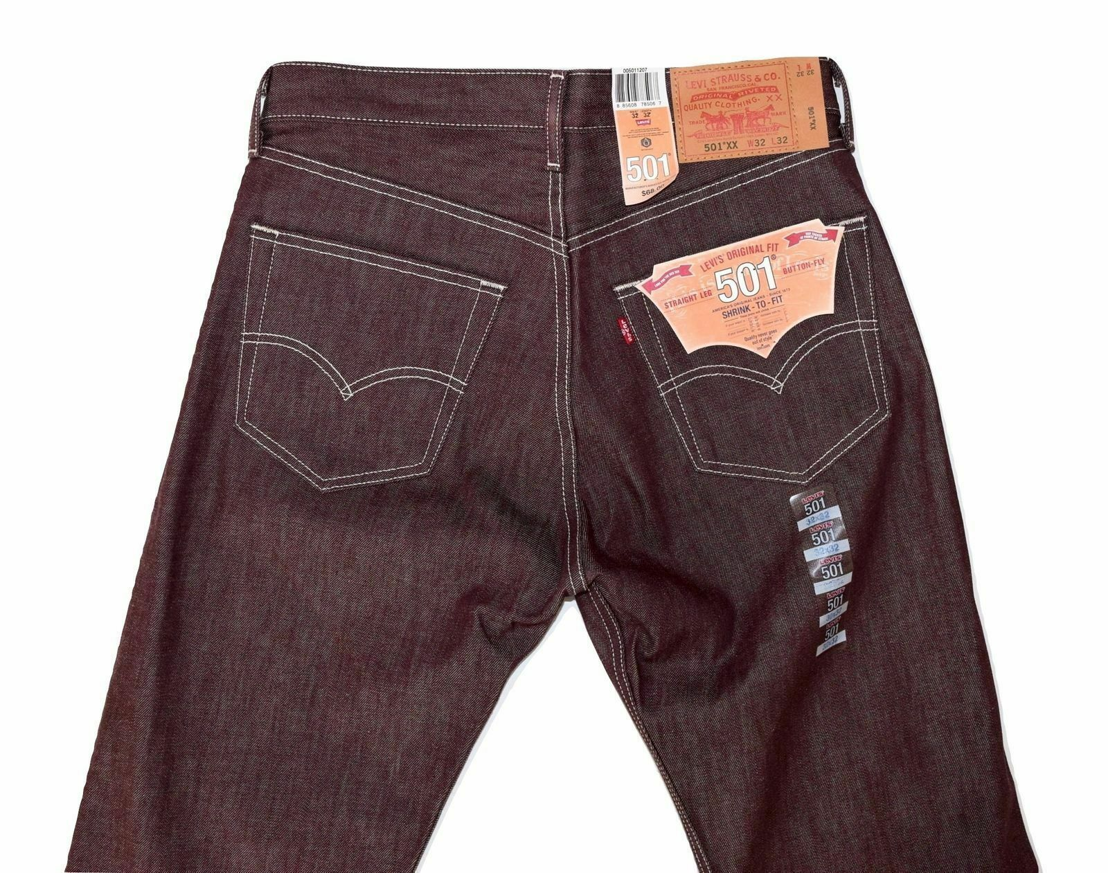 Levi's 501 Men's Original Fit Straight Leg Jeans Button Fly 501-1207